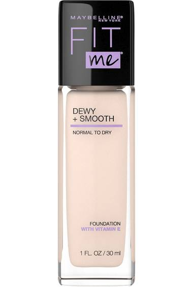 Fit Me® Dewy + Smooth Foundation - Dewy foundation with SPF 18 that hydrates and smoothes skin texture. Leaves a naturally luminous finish.