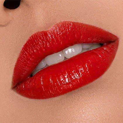Red Lipstick Lip Stain And Lacquer