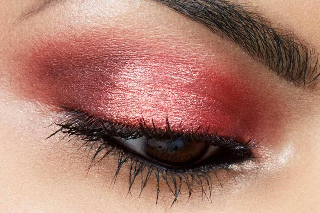 Get The Perfect Glitter Red Eyeshadow Look for Fall , Maybelline