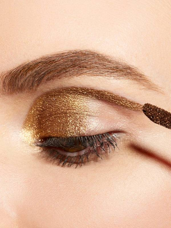 Makeup Ideas under eye hollows makeup photographs : How To: Metallic Gold Eyeshadow - Fall Makeup Tutorial - Maybelline